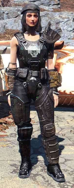 Мод Fallout 4 — Перекраска корсета Кейт (Corset (Cait's Outfit) Black Re-color)