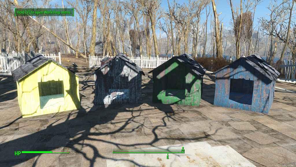 Мод Fallout 4 — новые собачьи будки (More Doghouses)
