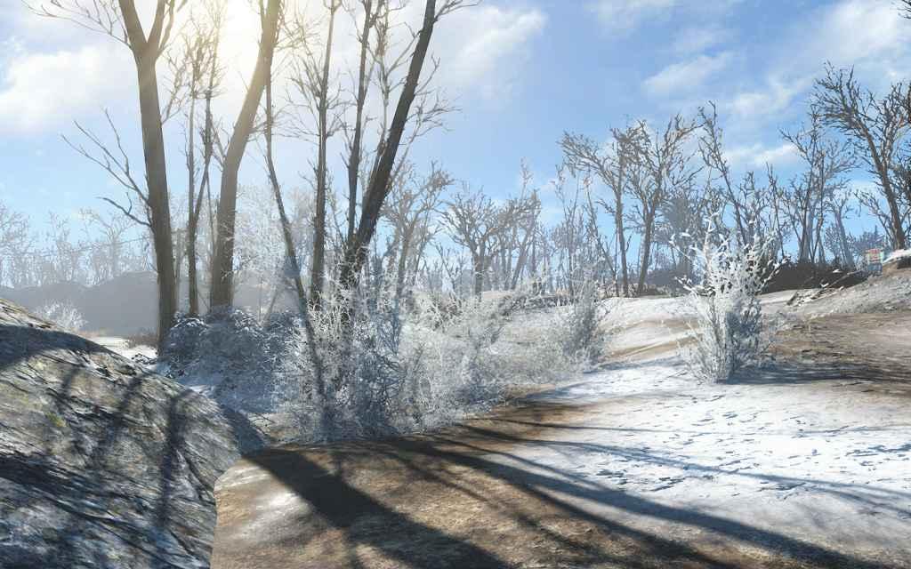 Мод Fallout 4 — Снег в Содружестве!