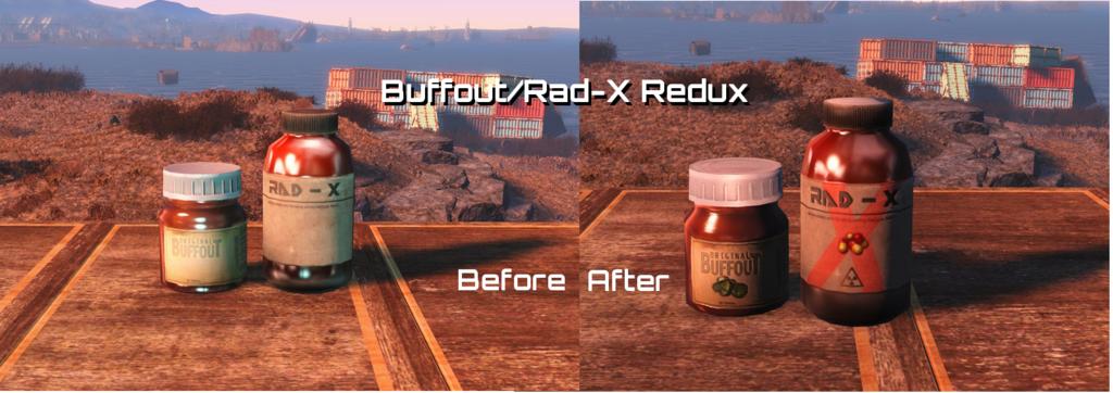 Мод Fallout 4 — Реплейсер Рад-Х и Баффаута