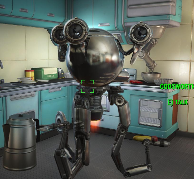 Fallout 4 — Довоенные текстуры для Кодсворда (Codsworth Pre-War Rextexture)
