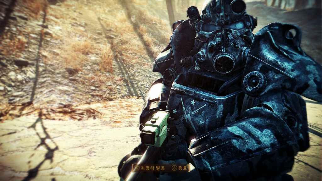 Мод Fallout 4 — Камуфляжные текстуры Силовой Брони Т-45 (T-45 Power Armor Camoflage Retexture)
