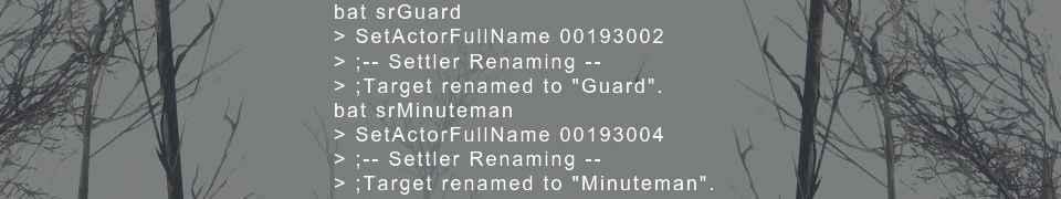 Мод Fallout 4 — Переименование поселенцев (Settler Renaming — Rename Settlers and NPCs)