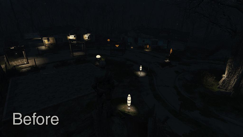 Мод Fallout 4 — Улучшенное освещение в поселении