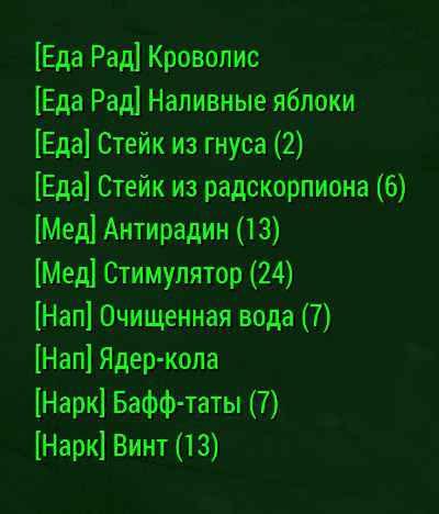 Мод Fallout 4 — Тэги для «Помощи»