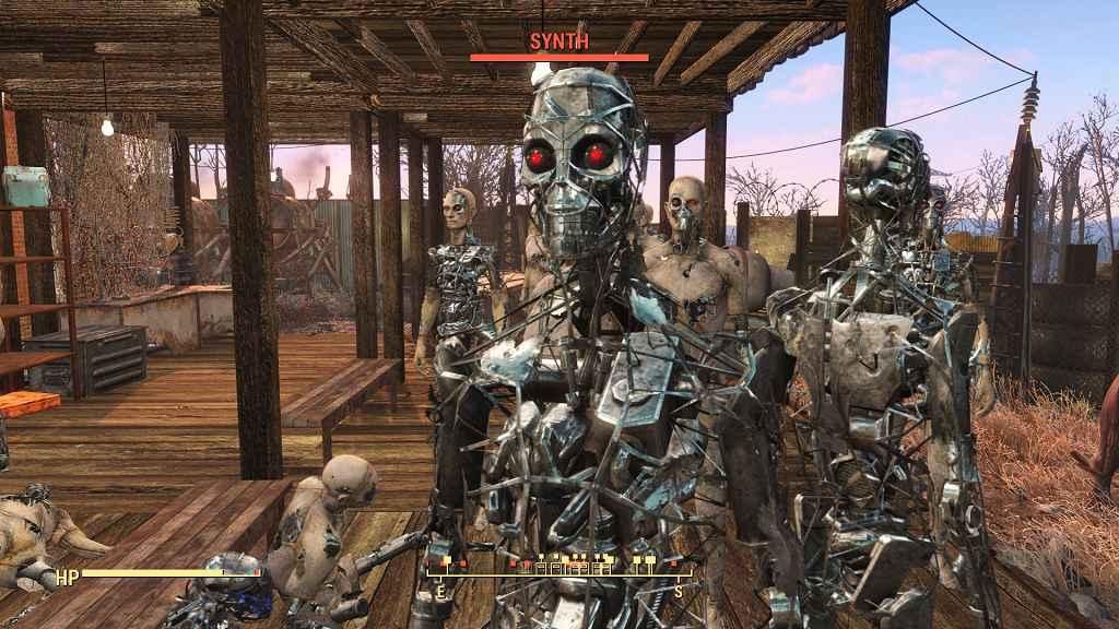Мод Fallout 4 — Замена Синтов на Терминаторов (Terminator Synth Gen1 and Gen2)