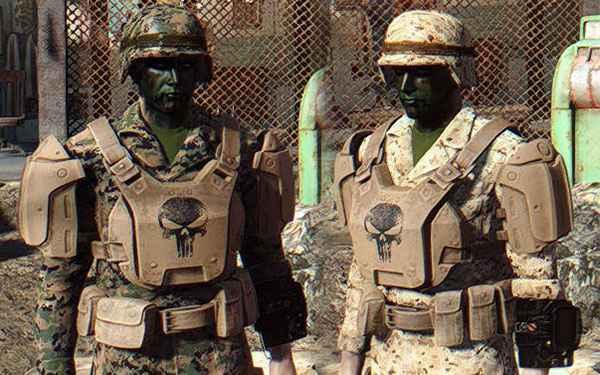 Мод Fallout 4 — Ретекстур боевой брони (USMC MARPAT Camo Army Fatigues)