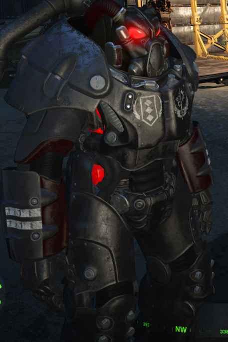 Мод Fallout 4 — Раскраска Братства Стали для X-01 (Standalone X-01 Brotherhood of Steel Power Armor Paint Set)