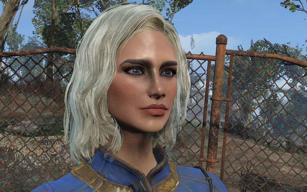 Мод Fallout 4 — Светлые волосы с темными бровями (HAIR MOD — Blonde hair with Dark eyebrows)