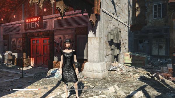 Мод Fallout 4 — Черное платье с блестками (Black Sequin Dress)