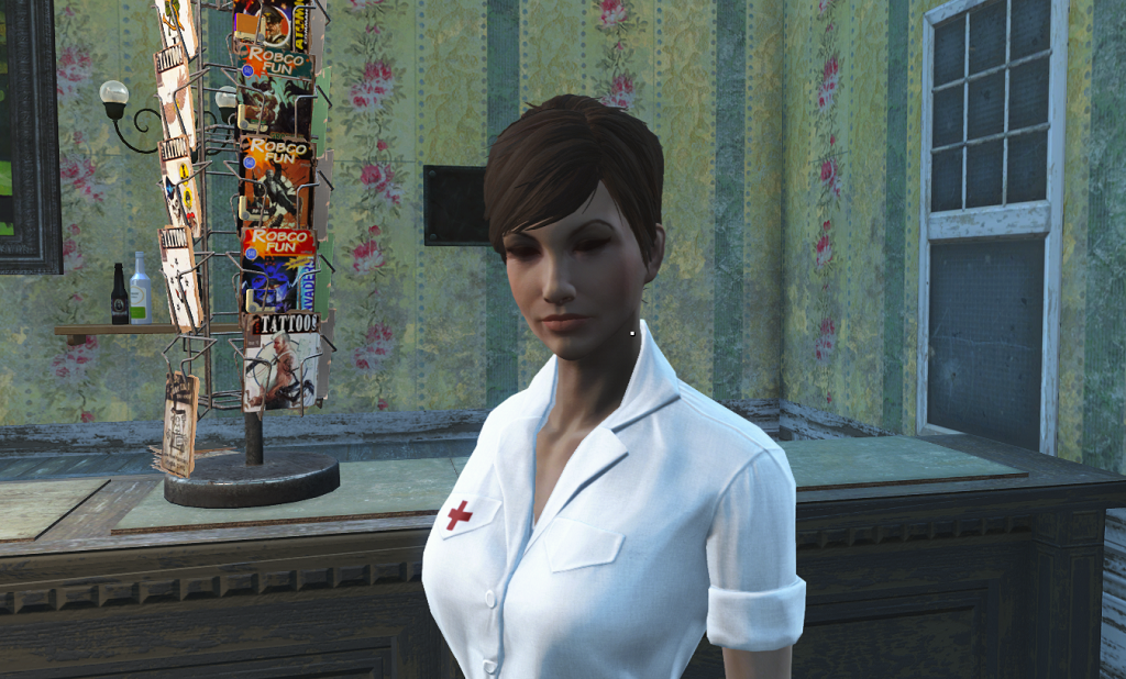 Мод Fallout 4 — Довоенная форма медсестер (Laundered White Nurse Dress)
