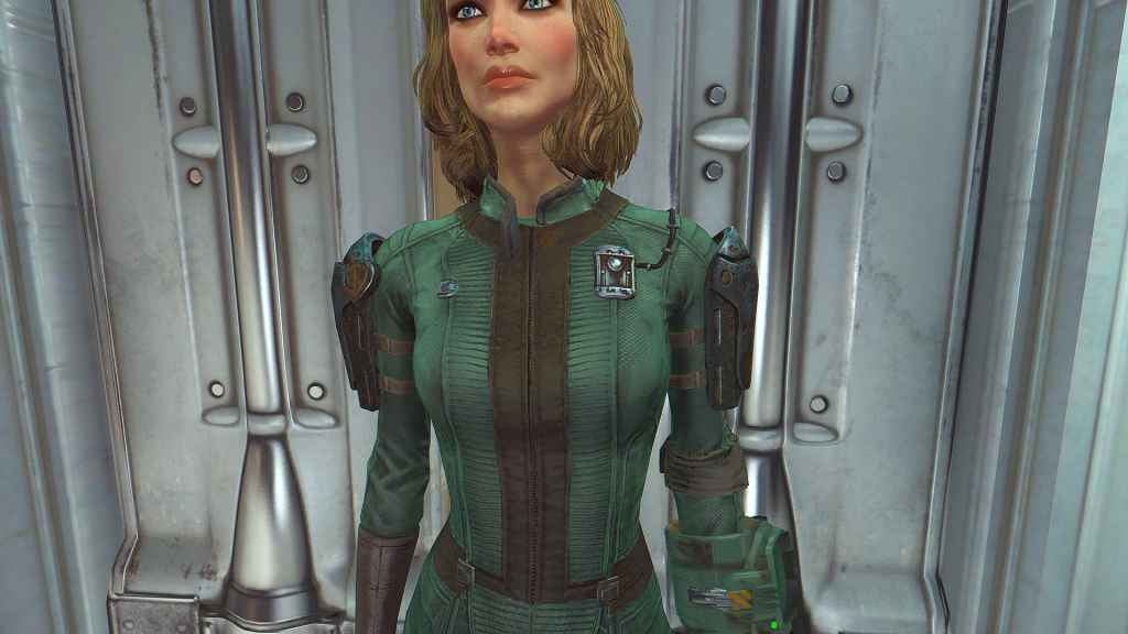 Мод Fallout 4 — Комбинезон убежища Братства Стали (Vaultsuit BoS Uniform and Pipboy Recolor)