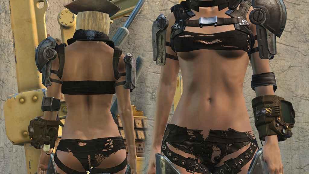 Мод Fallout 4 — Откровенная экипировка Рейдеров (Harness Warddrobe — Craftable Variants)