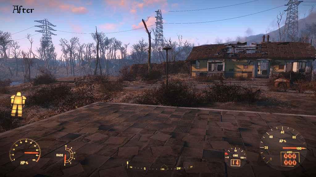 Мод Fallout 4 — «Чистый» HUD в силовой броне