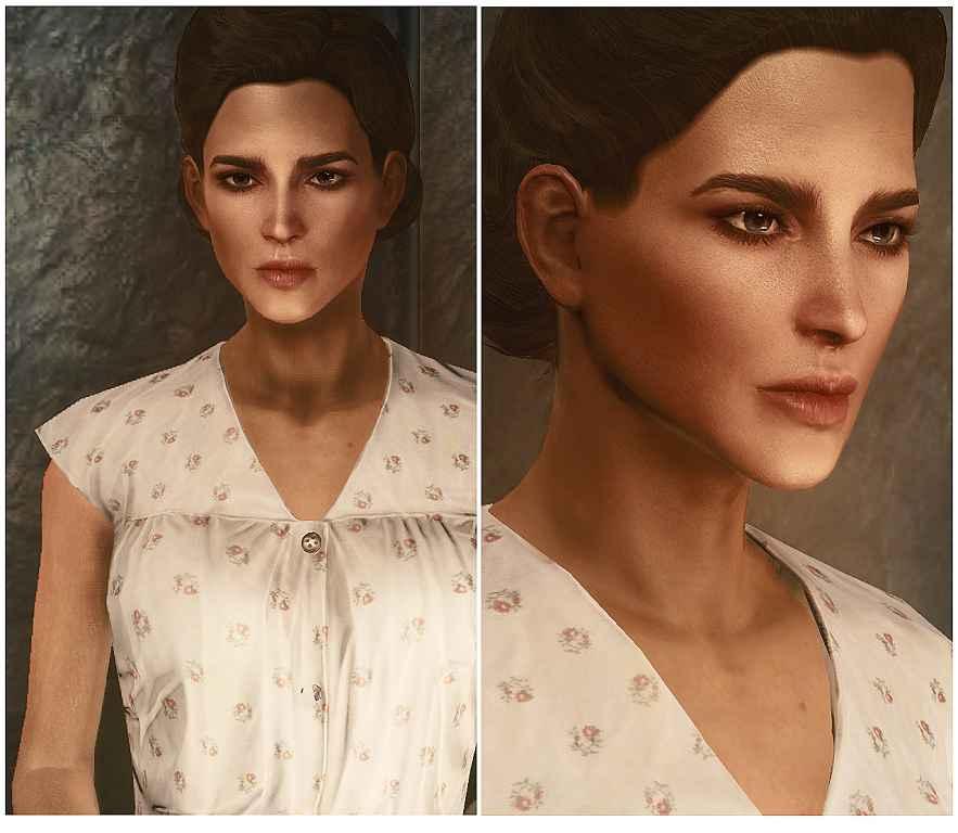 Fallout 4 — Улучшенные текстуры лица и тела для Женщин (Valkyr Female Face and Body Textures)