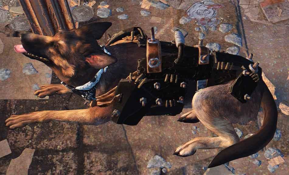 Мод Fallout 4 — Черная броня для Псины (Dogmeat Black Armor)
