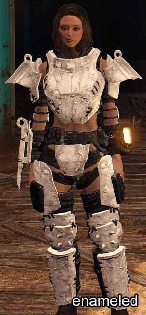 Мод Fallout 4 — Черно-белая металлическая броня (White and Black Metal Armor)