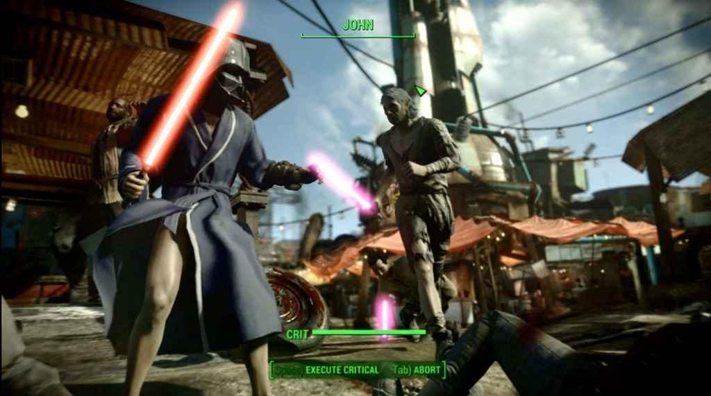 Мод Fallout 4 — Световые мечи