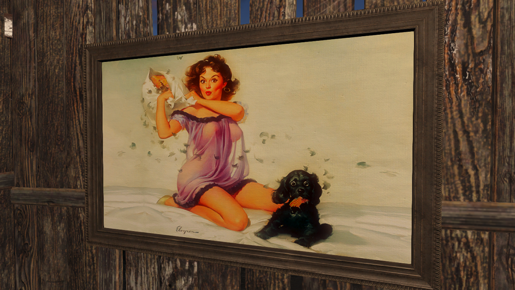 Fallout 4 — «Pinup» реплейсер картин (Atom Bomb Pinup Paintings and Billboards)