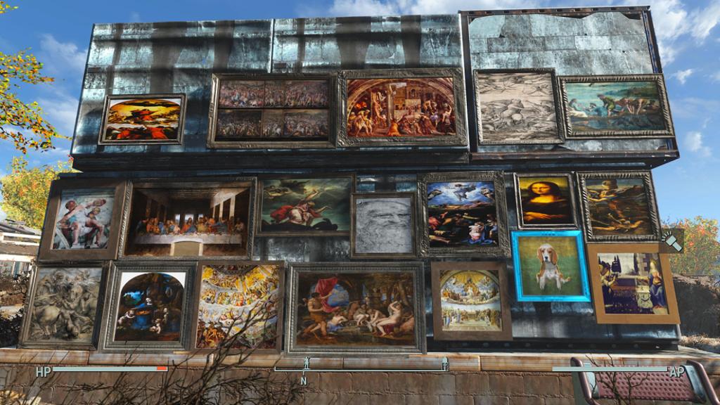 Мод Fallout 4 — Картины эпохи возрождения