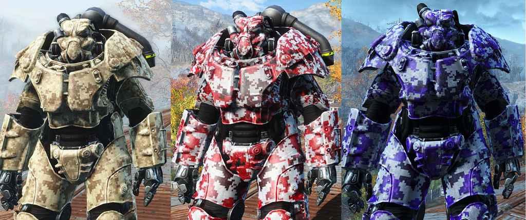 Мод Fallout 4 — Цифровой камуфляж для Силовой Брони X-01 (X-01 Digital Camo 2K)