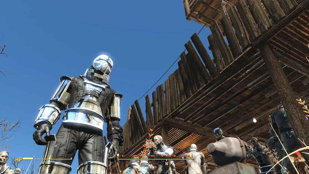 Мод Fallout 4 — Хромированная броня Синтов (Chrome Synth Armor)