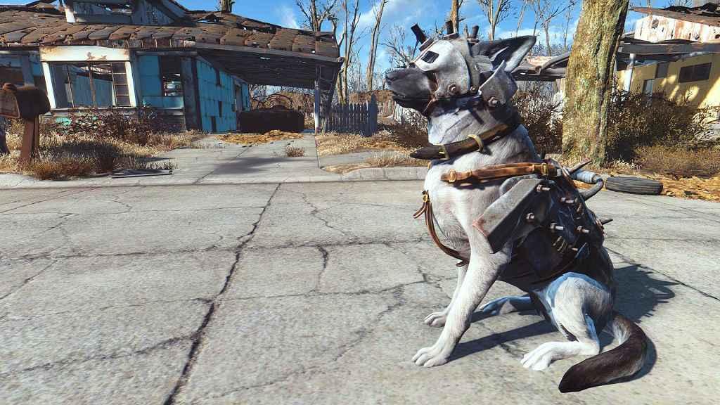 Fallout 4 — Забытый волк (Скин для собаки)