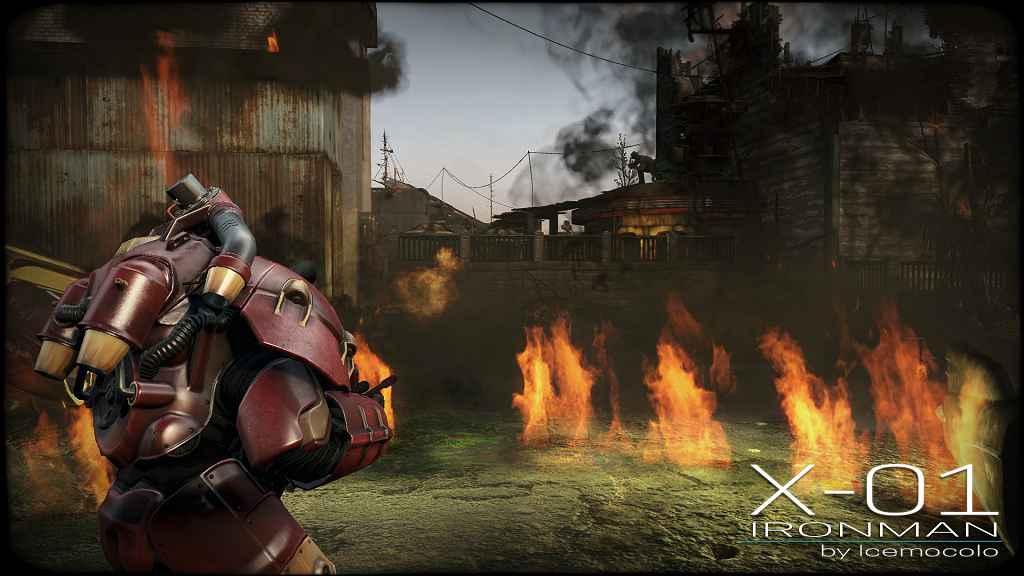 Мод Fallout 4 — X-01 Железный Человек