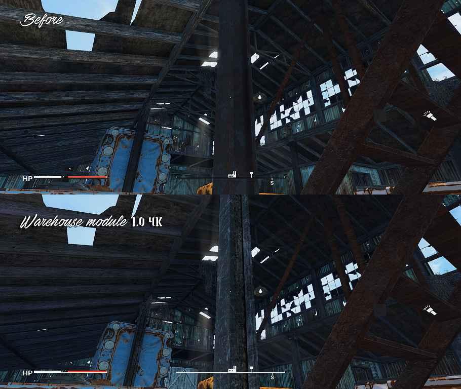 Мод Fallout 4 — Реплейсер Складов / Сараев