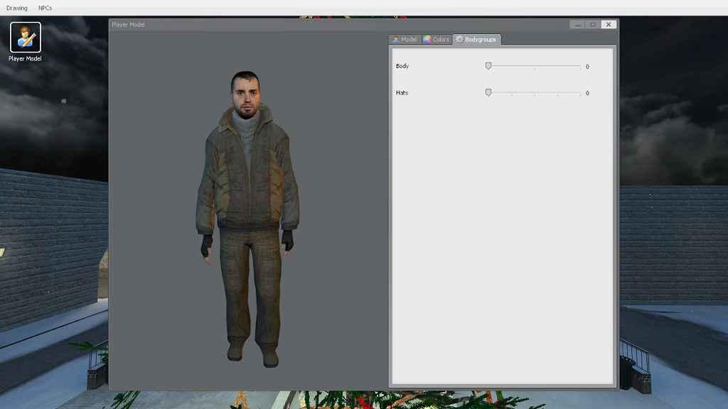 Мод Garry's Mod 13 — Гражданские в зимней одежде (модель игрока)