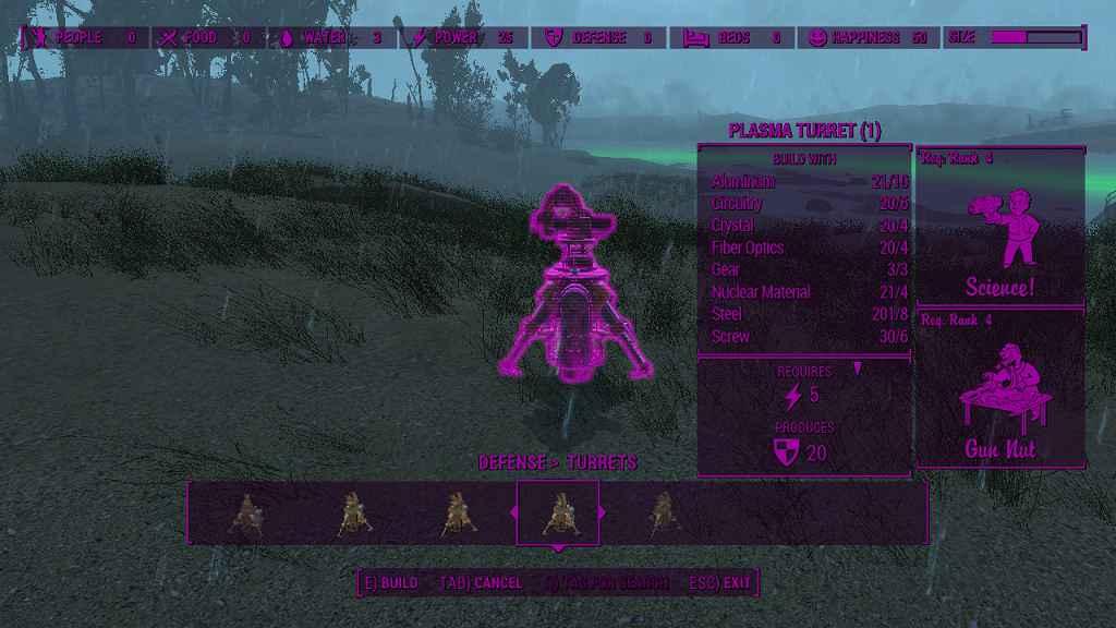 Мод Fallout 4 — Плазменные Башни (Постройка)