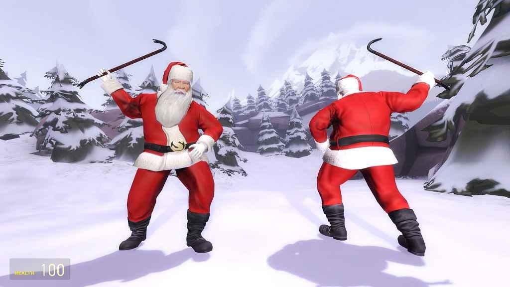 Мод Garry's Mod 13 — Модель игрока Санта Клаус