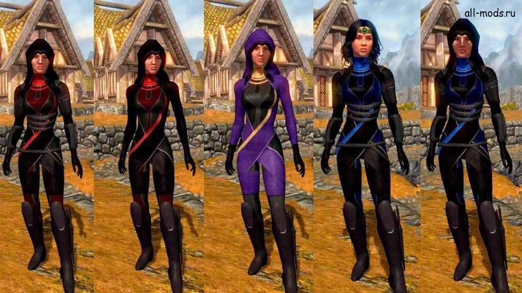 Мод Skyrim — новая броня «Тали» из Mass Effect