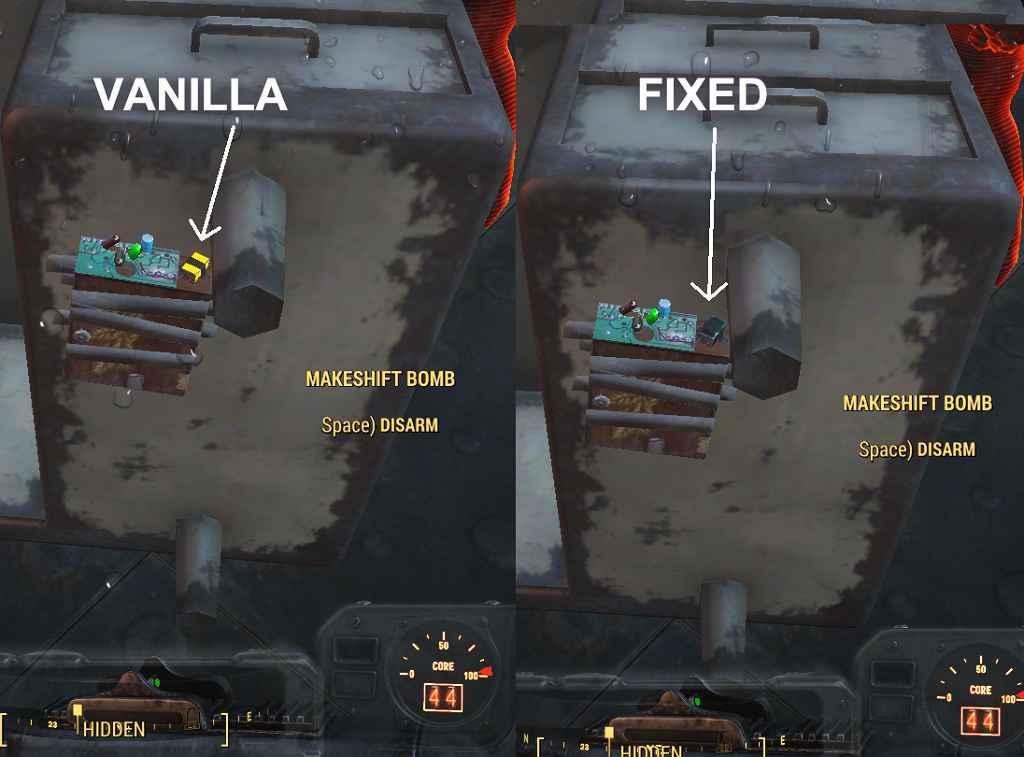 Мод Fallout 4 — Мины без подсветки (No Glowing Mines)