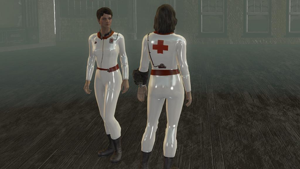 Мод Fallout 4 — Латексная форма медсестры (Latex Nurse Suits)