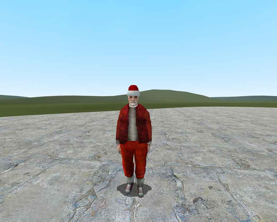 Мод Garry's Mod 13 — Модель игрока грязный Санта Клаус