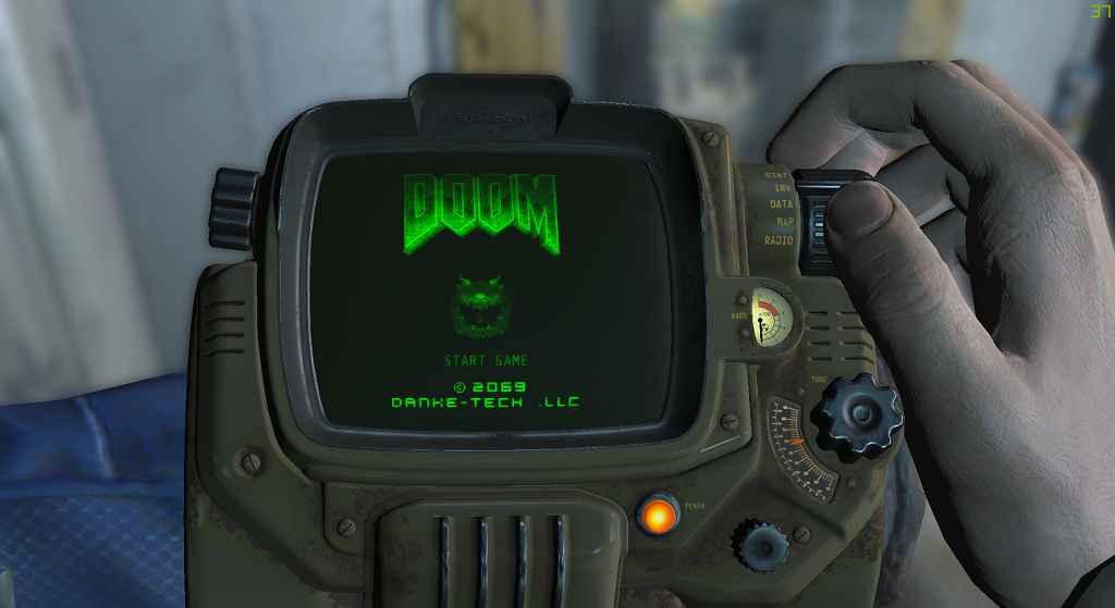 Мод Fallout 4 — Игра DOOM для вашего Пип-Боя