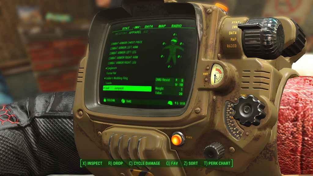 Мод Fallout 4 — Черно-красный комбинезон убежища