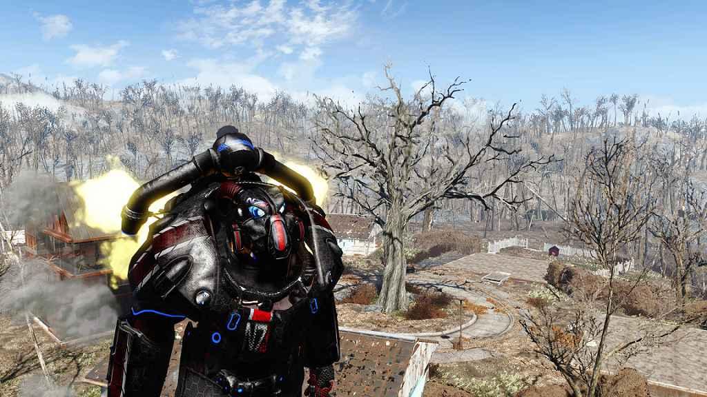 Мод Fallout 4 — Раскраска N7 для Силовой Брони X-01
