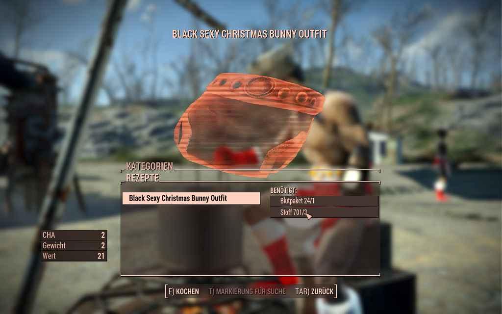 Мод Fallout 4 — Сексуальный рождественский наряд (CBBE)