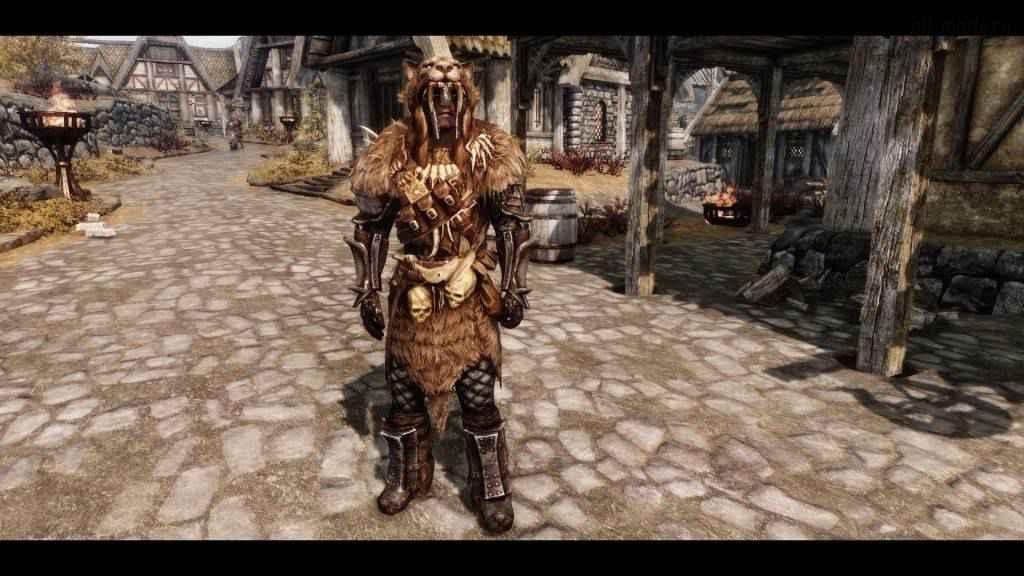 Мод Skyrim — новая броня «Вождя»