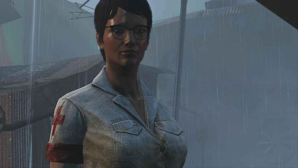 Мод Fallout 4 — Форма медсестры (CBBE)