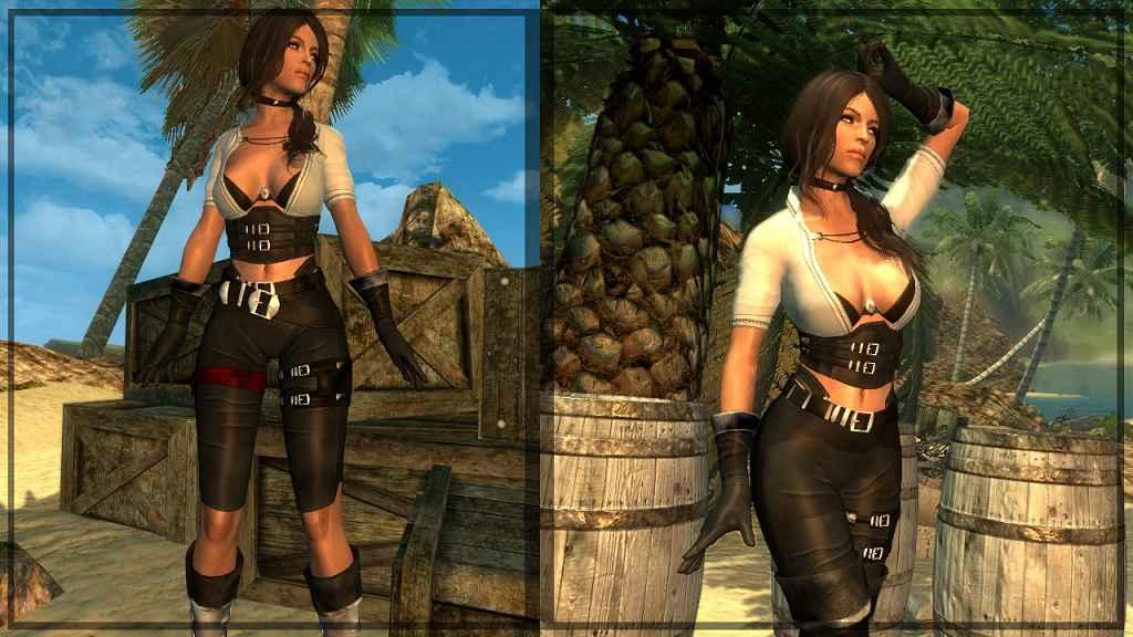 Мод Skyrim — Пиратка Нереида — CBBEv3 Curvy