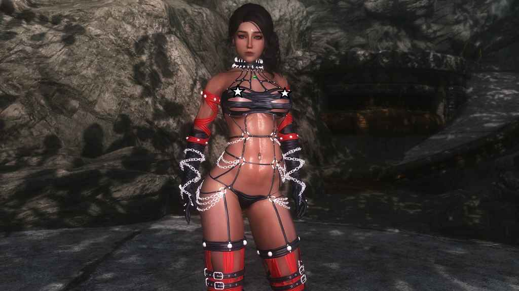 Мод Skyrim — Готическая госпожа для 7B Bombshell
