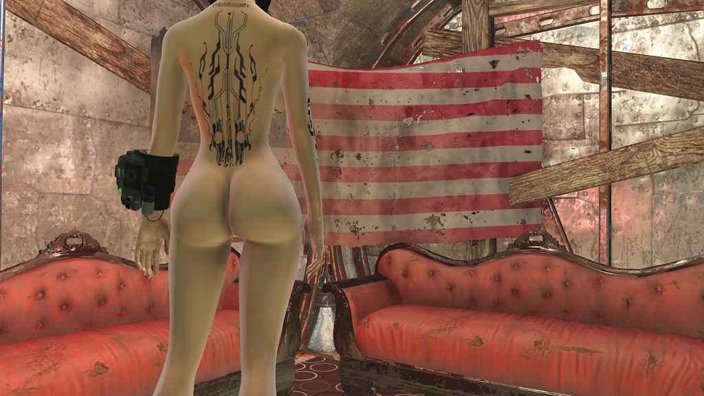 Мод Fallout 4 — Татуировки в стиле Mirrors Edge (для CBBE)