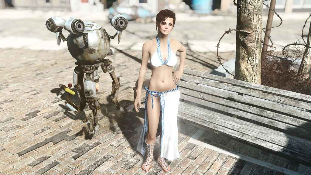 Fallout 4 — Наряд Mina с физикой (для CBBE)