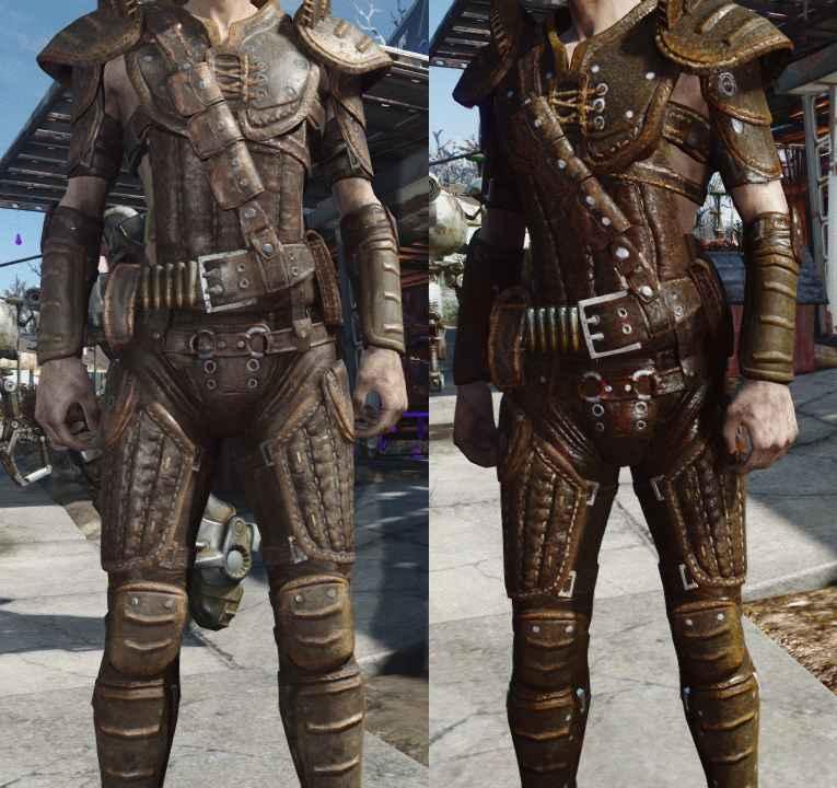 Мод Fallout 4 — Реалистичная кожаная броня