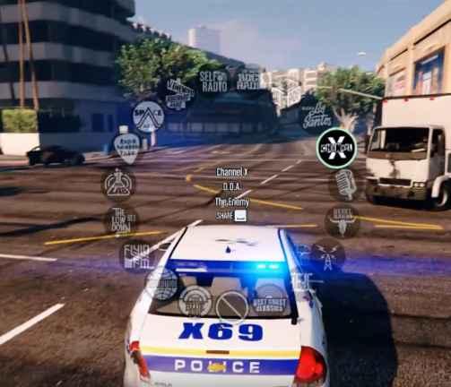 Мод GTA 5 — Радио в полицейских машинах
