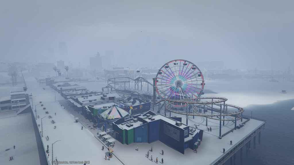 Мод GTA 5 — Снег в синглплеере