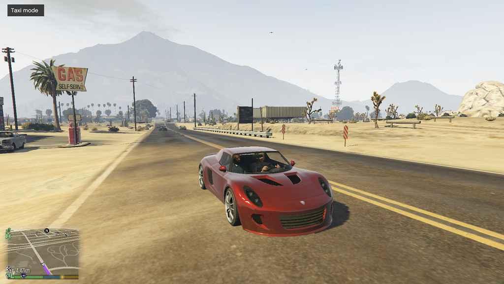 Мод GTA 5 — Такси в любой машине